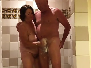 Jacin my husband off i got his cum every where yes i love it - 2 part 4